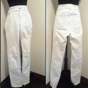 Ann Taylor MODERN FIT STRAIGHT Leg White Jeans